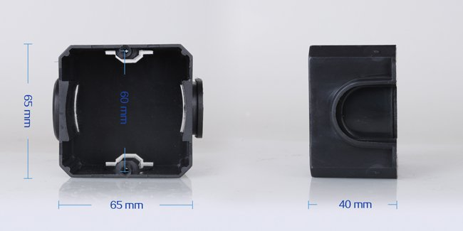 Tento box je plne kompatibilný s dotykovými vypínačmi a zásuvkami značky LIVOLO