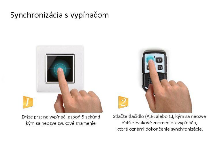 Tento ovládač je možné použiť len s vypínačmi značky LIVOLO