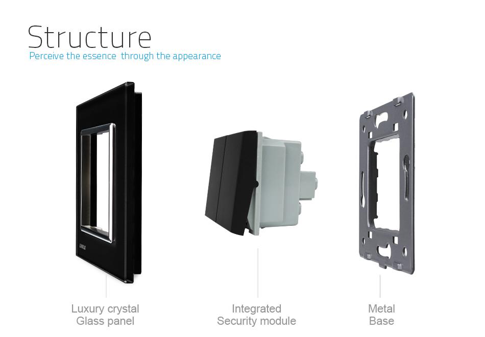 Tieto elegantné vypínače v elegantnom vzhľade sa používajú na ovládanie svetla pomocou jednoduchého dotyku skleneného panela