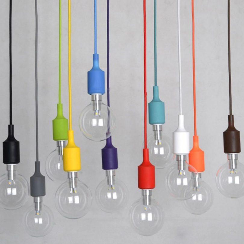 Stropné svietidlá vyrobené zo silikónu