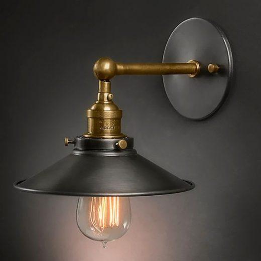 Historické-nástenné-svietidlo-s-tmavým-tienidlom