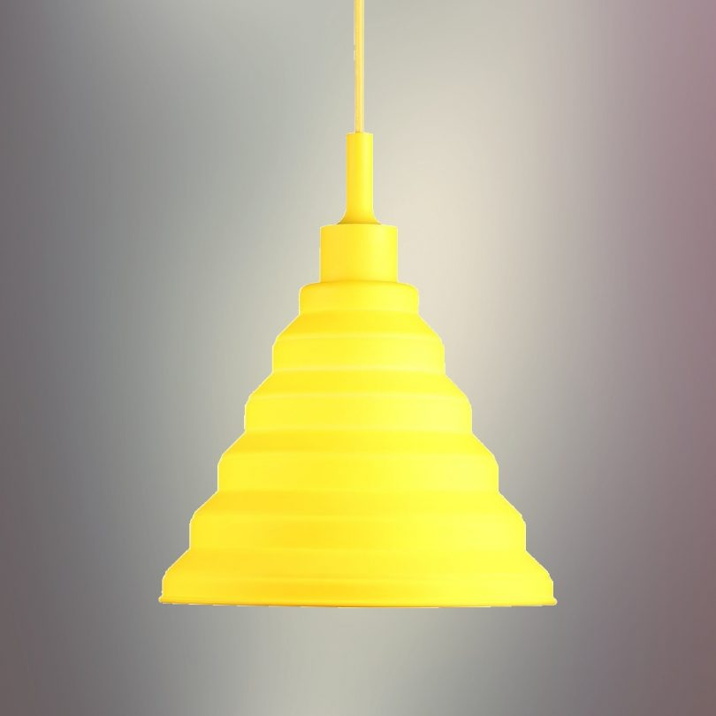 Moderný-závesný-silikónový-luster-s-textilnou-šnúrou-v-žltej-farbe2