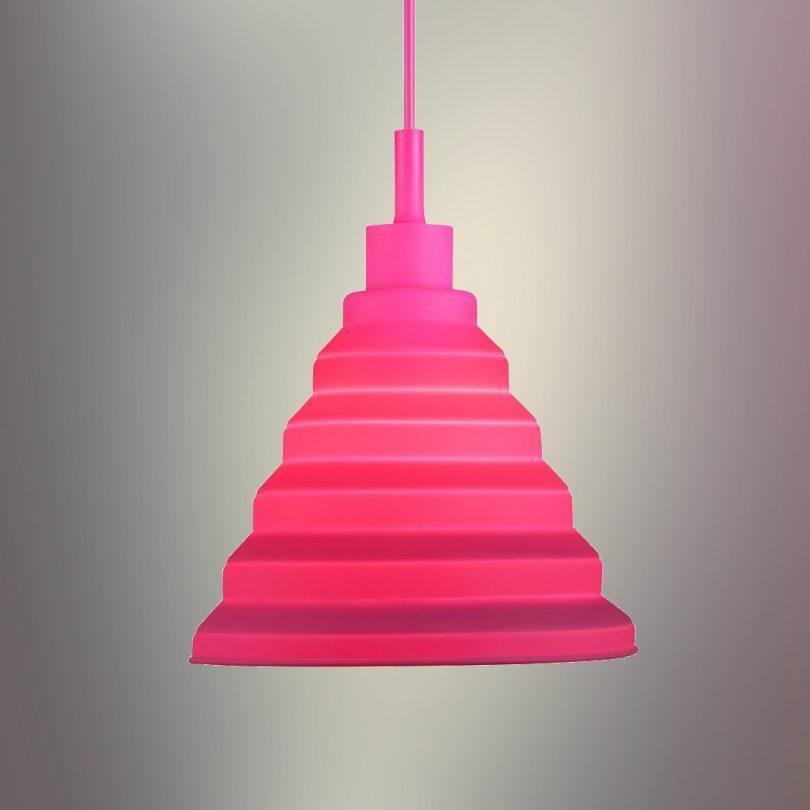 Moderný-závesný-silikónový-luster-s-textilnou-šnúrou-v-ružovej-farbe2