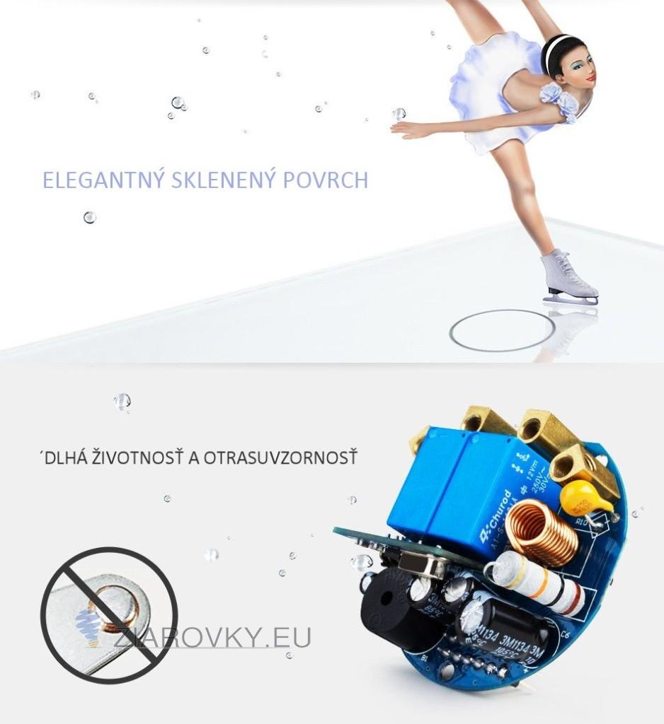 Tieto luxusné vypínače v modernom vzhľade sa používajú na ovládanie svetla pomocou jednoduchého dotyku skleneného panela
