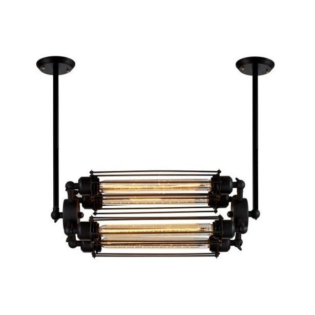 Historický-závesný-horizontálny-luster-4-pätice-čierna-farba-1