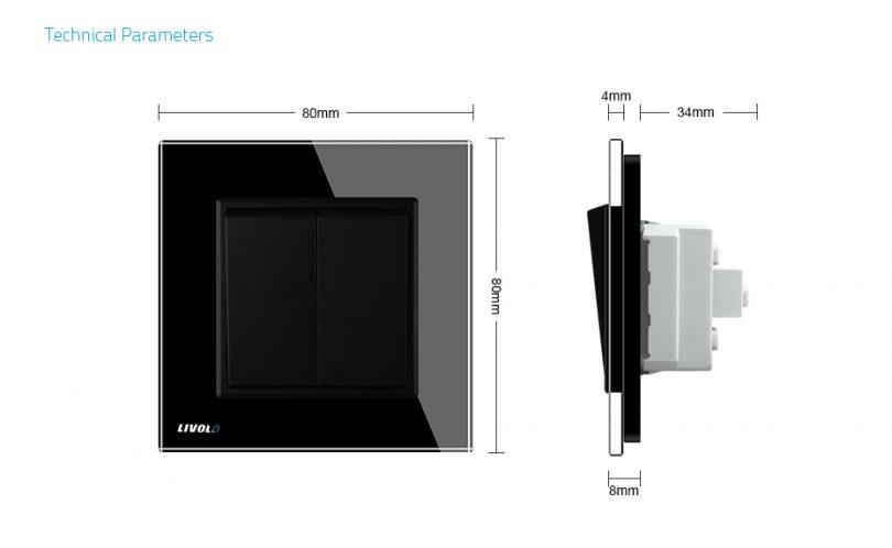 Luxusné mechanické vypínače v bielom alebo čiernom prevedení (1)