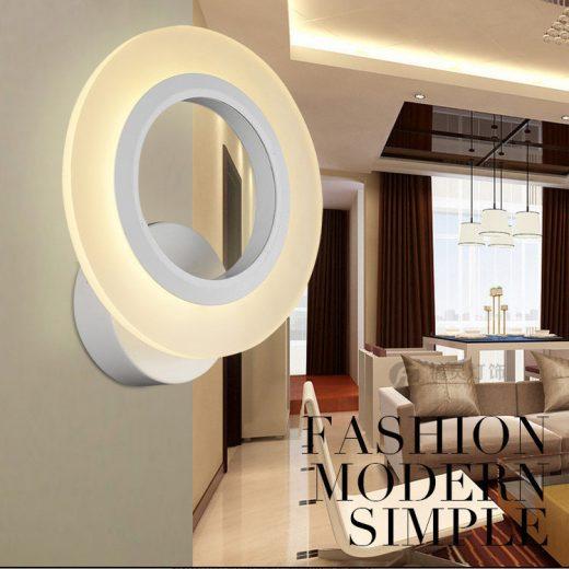 Moderné nástenné LED svietidlo v tvare kruhu, 9W, SMD 2835 je svietidlo určené na stenu v modernom vzhľade