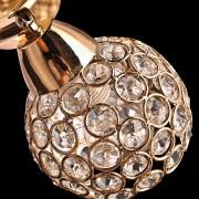 Moderné nástenné kryštálové svietidlo v tvare kvetín v zlatej farbe na žiarovky typu E14 je svietidlo určené na stenu v modernom vzhľade