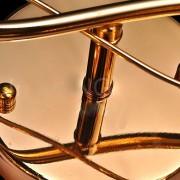 Moderné nástenné kryštálové svietidlo v tvare kvetín v zlatej farbe
