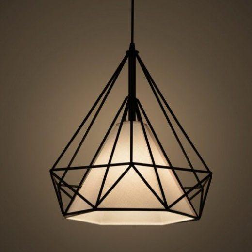 Moderné závesné svietidlo v retro štýle s tienidlom v tvare diamantu (2)
