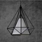 Moderné závesné svietidlo v retro štýle s tienidlom v tvare diamantu (3)