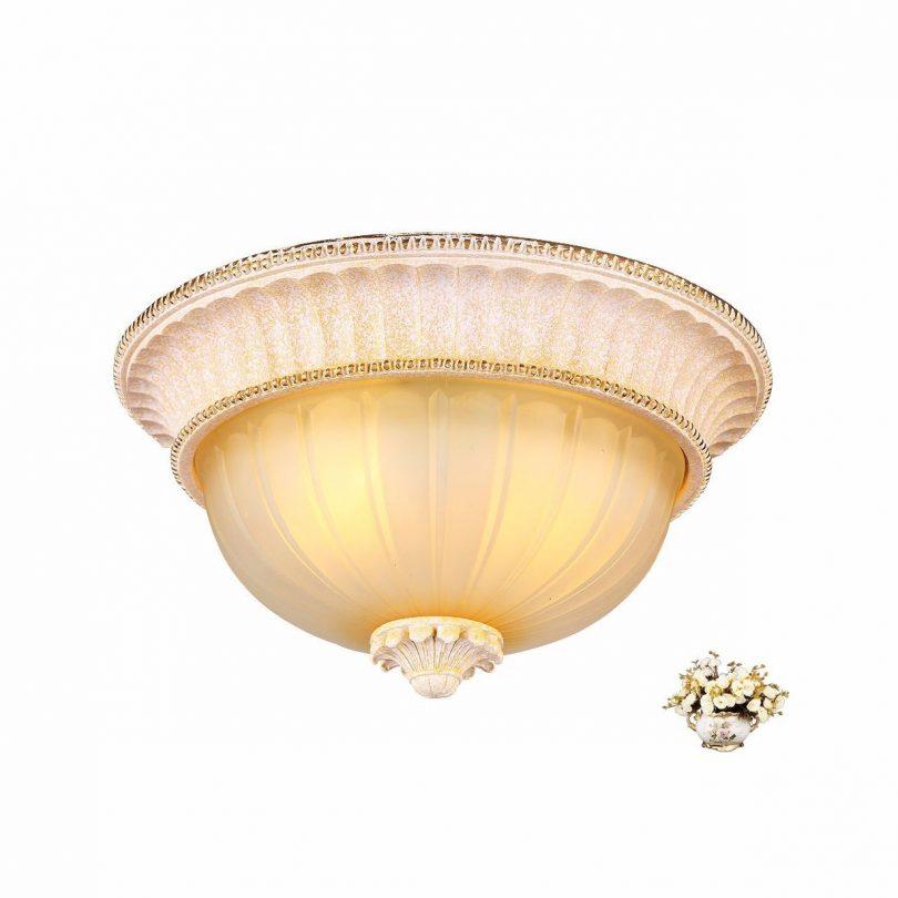 Luxusné-stropné-svietidlo-Dvojitý-Tanier-s-ručnou-maľbou-5