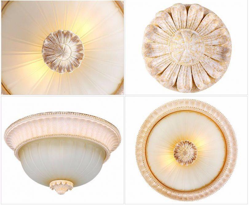 Luxusné-stropné-svietidlo-Dvojitý-Tanier-s-ručnou-maľbou-8