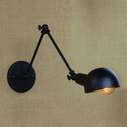 Nástenné svietidlo Bedside s nastaviteľným ramenom je čorazpoužívanejšie a populárnejšiepre moderné a priemyselné interiéry.