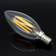 FILAMENT žiarovka - CANLDE - E14, Teplá biela, 2W, 280lm (3)