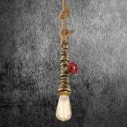 Kreatívne lanové závesné svietidlo v tvare priemyselného potrubia v staromosádznej farbe