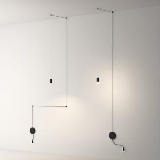 Dizajnový luster, svietidlo na stenu s LED žiarovkou1