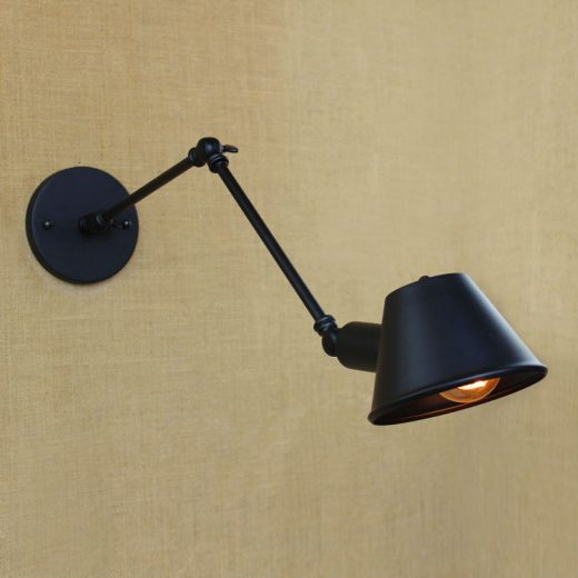 Historické nástenné svietidlo Vintage s nastaviteľným ramenom1