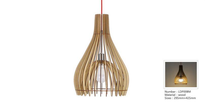 Originálne závesné drevené svietidlo z kolekcie iWood - DOME