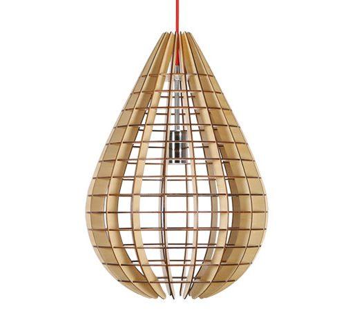 Originálne závesné drevené svietidlo z kolekcie iWood - DROP