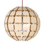 Originálne závesné drevené svietidlo z kolekcie iWood - EARTH