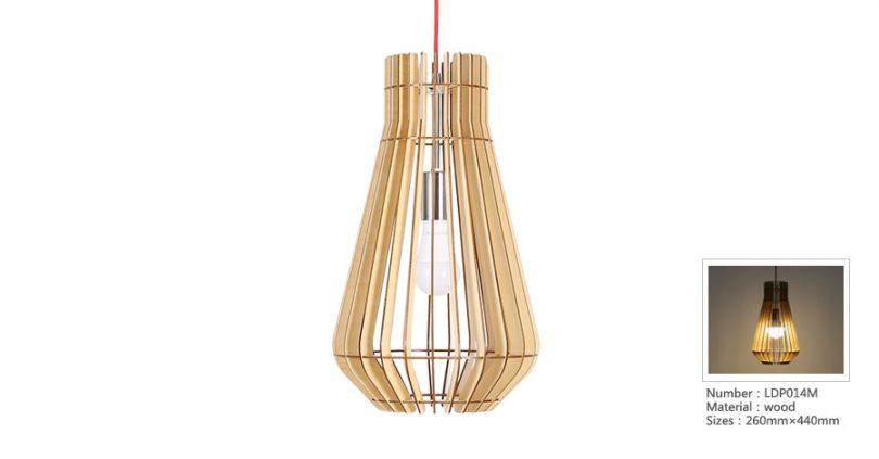 Originálne závesné drevené svietidlo z kolekcie iWood - FISH BASKET
