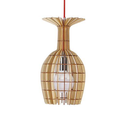 Originálne závesné drevené svietidlo z kolekcie iWood - GOBLET