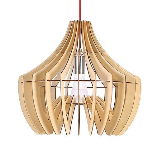 Originálne závesné drevené svietidlo z kolekcie iWood - HOOK