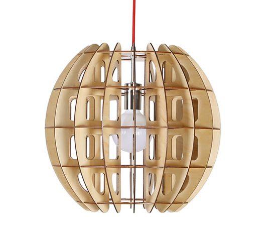 Originálne závesné drevené svietidlo z kolekcie iWood - LANTERN