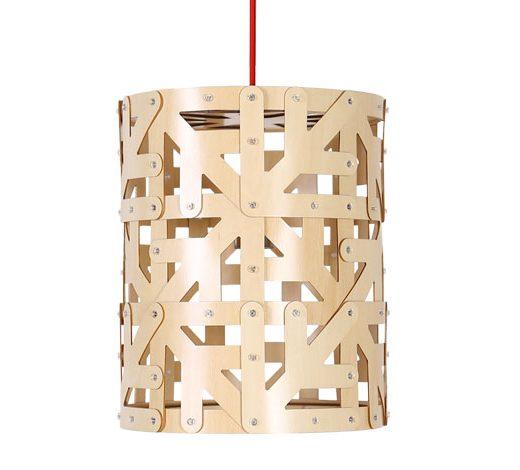 Originálne závesné drevené svietidlo z kolekcie iWood - LARK