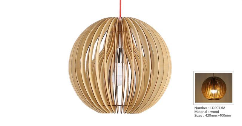 Originálne závesné drevené svietidlo z kolekcie iWood - NARCISSUS