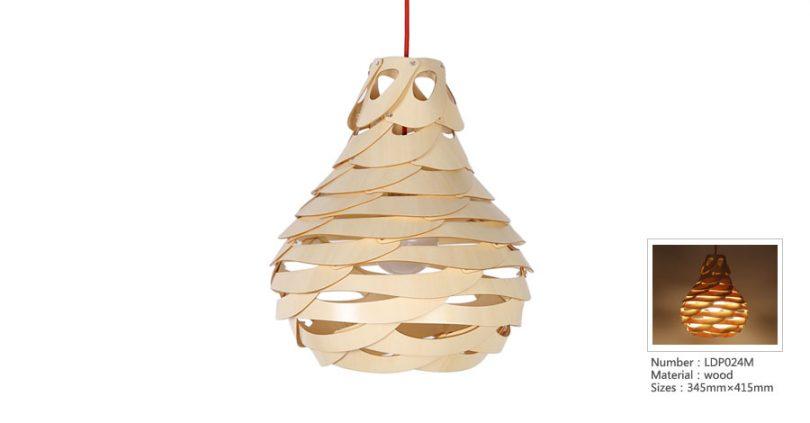 Originálne závesné drevené svietidlo z kolekcie iWood - NEST