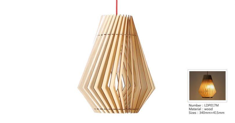 Originálne závesné drevené svietidlo z kolekcie iWood - SHUTTER