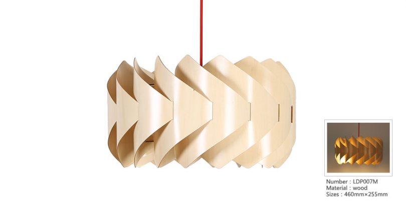 Originálne závesné drevené svietidlo z kolekcie iWood - WINDRILL