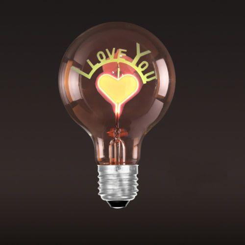 Dekoračná žiarovka - SHINES - Love You