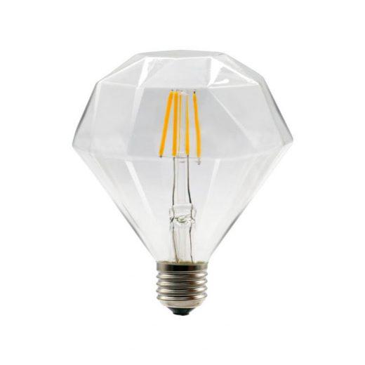 FILAMENT žiarovka - DIAMOND - E27, Teplá biela, 4W, 350lm