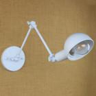 Historické nástenné svietidlo Bedside s nastaviteľným ramenom v bielej farbe je luxusné svietidlo v historickom štýle3