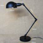 Historické stolové svietidlo Bedside s nastaviteľným ramenom2