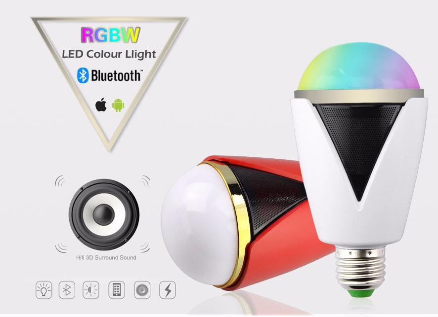 58f918e9d Inteligentná LED žiarovka E27 s bluetooth reproduktorom