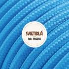 Kábel dvojžilový v podobe textilnej šnúry v modrej farbe