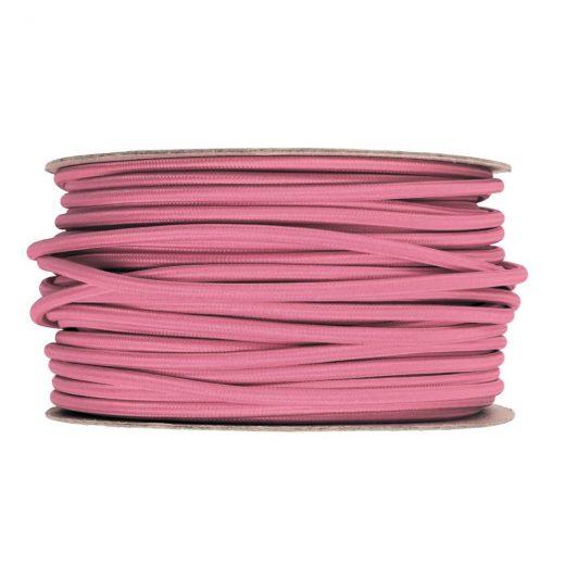 Kábel dvojžilový v podobe textilnej šnúry v ružovej farbe, 2 x 0.75mm, 1 meter (1)