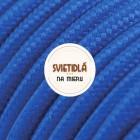 Kábel dvojžilový v podobe textilnej šnúry v tmavo modrej farbe (2)