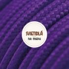 Kábel dvojžilový v podobe textilnej šnúry vo fialovej farbe
