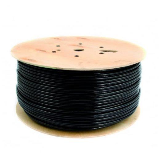 Kábel dvojžilový z PVC v čiernej farbe, 2 x 0.75mm, 1 meter