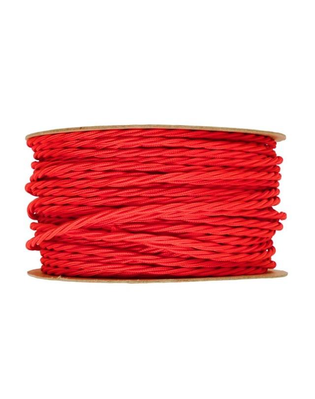 Kábel-dvojžilový-skrútený-v-podobe-textilnej-šnúry-v-červenej-farbe-2-x-0.75mm-1-meter