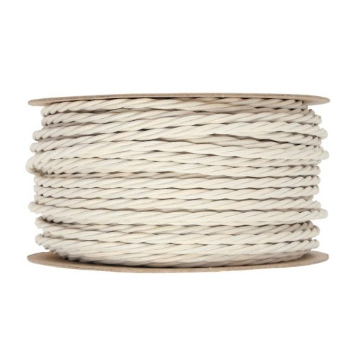 Kábel-dvojžilový-skrútený-v-podobe-textilnej-šnúry-v-ivory-farbe-2-x-0.75mm-1-meter