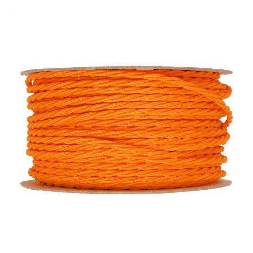 Kábel-dvojžilový-skrútený-v-podobe-textilnej-šnúry-v-neónovej-pomarančovej-farbe-2-x-0.75mm-1-meter-1