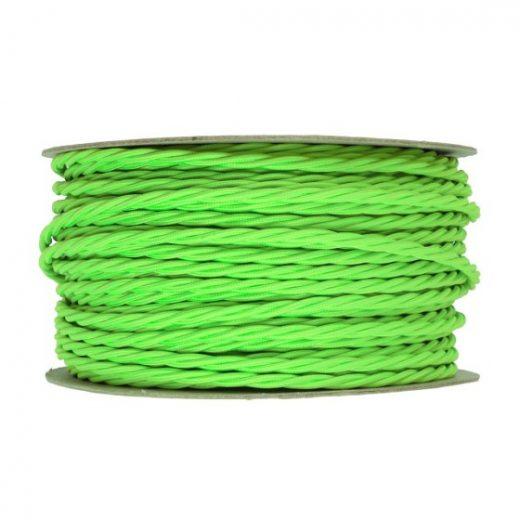 Kábel-dvojžilový-skrútený-v-podobe-textilnej-šnúry-v-neónovej-zelenej-farbe-2-x-0.75mm-1-meter-1