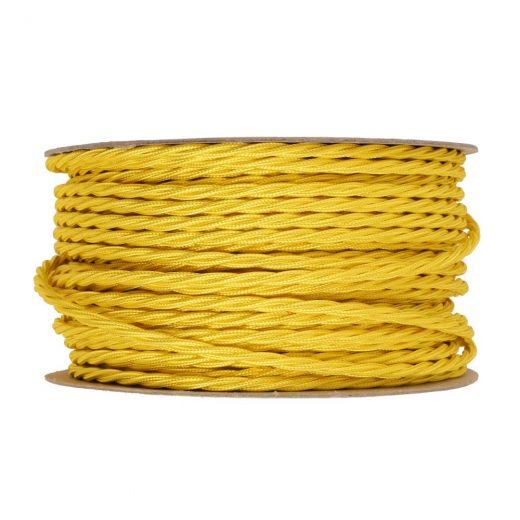 Kábel-dvojžilový-skrútený-v-podobe-textilnej-šnúry-v-žltej-farbe-2-x-0.75mm-1-meter