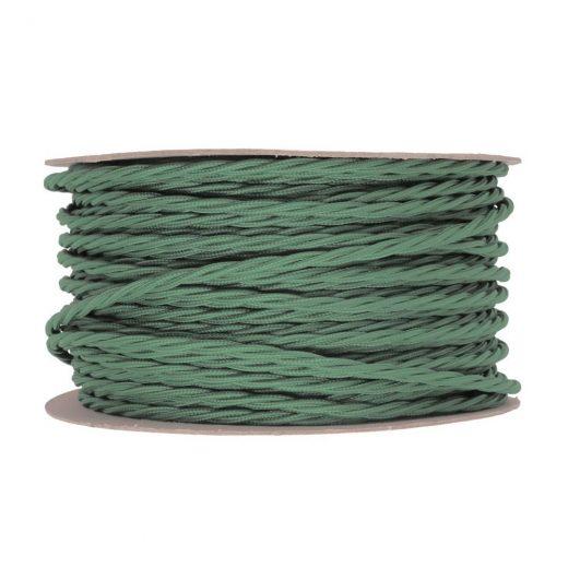 Kábel-dvojžilový-skrútený-v-podobe-textilnej-šnúry-v-zelenej-farbe-2-x-0.75mm-1-meter